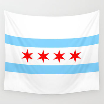 Chicago Flag Wall Tapestry Wall Hanging Flag Tapestry Chicago Decor Home Decor