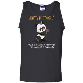 Cute Funny Always Be Yourself Unless You Can be a Pandicorn Tank Top