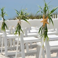 BEACH WEDDING CHAIR Caps-Beach Wedding Decoration-Beach Wedding Favor-Starfish Decoration-Sand Dollar Decoration-Annie Gray-Chair Decoration