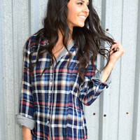 Dahl Baby Plaid Blouse