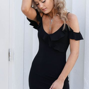 Hollywood Dreams Black Dress