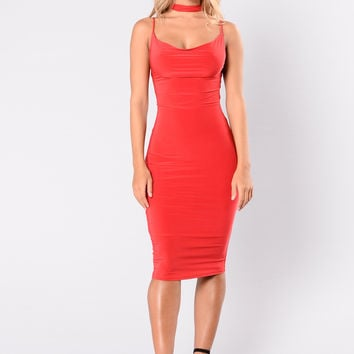 Touch It Dress - Red