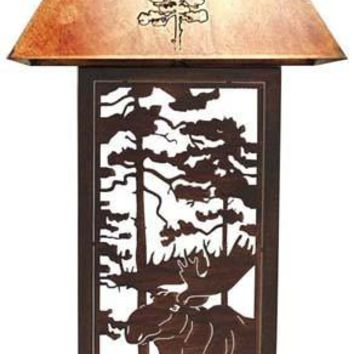 Moose Forest Table Lamp