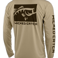 Lunker Largemouth Performance Fishing Shirts - Wicked Catch