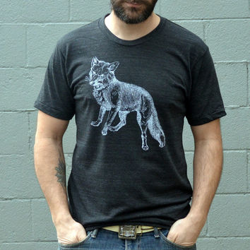 Clothing - Men's Tshirt // FOX Tshirt // Tshirt - Gift for Men // Gift for Him