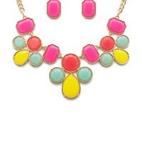 Color My World Cab Choker Necklace