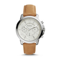 Gwynn Chronograph Light Brown Leather Watch - $125.00