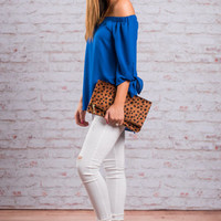The Way You Love Me Top, Royal Blue