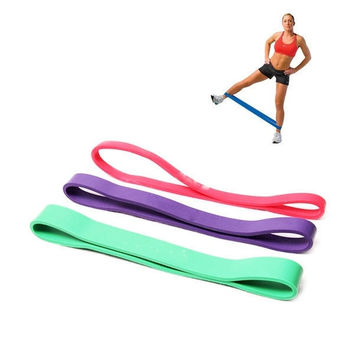 Practical Short Type Resistance Loop Bands For Workout Exercise Pilates Yoga Crossfit Strength Weight Training Fitness Gym = 1932570500