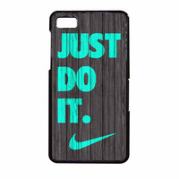 Nike Just Do It Wood Colored Darkwood Wooden Fdl BlackBerry Z10 Case