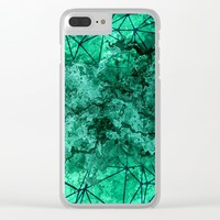 Geometric XIV Clear iPhone Case by tmarchev