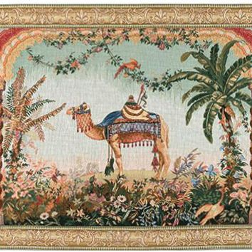 The Camel European Tapestry Wall Hanging
