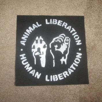 Animal Liberation Front Back Patch - Print, Screen Print, Punk, Patch, Stencil, Art, Hardcore, Anarchy, AFA, ALF