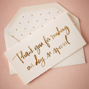 Foil Script Thank You Card