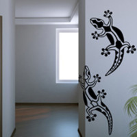 Tribal and Animal Stickers - Gecko Lizard - Wall Decals , Home WallArt Decals