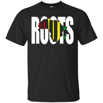 African Roots Black Power Black History Month Tshirt