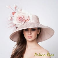 Couture Derby Hats, Nude Lampshade Hat
