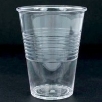"""""""What Is It?"""" REUSABLE Clear Acrylic Cups / Glasses, 4.75 Inch, Set of 4"""