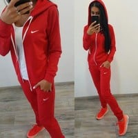 Nike Long Sleeve Shirt Sweater Pants Sweatpants Set Two-Piece Sportswear