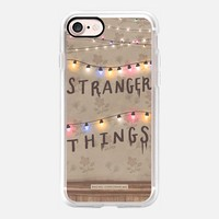 Stranger Things Illustration by Rachel Corcoran - Rachillustrates - 1980s Retro TV Show Christmas Holiday Lights iPhone 7 Case by Rachel Corcoran | Casetify