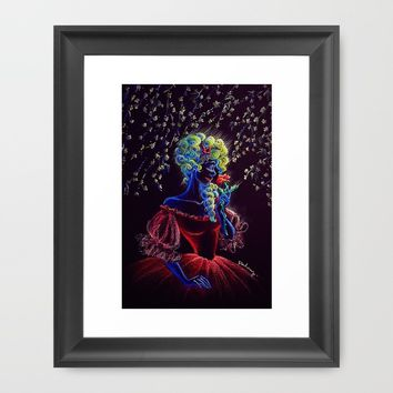Madame Red Framed Art Print by AmadeuxArt | Society6