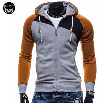 Hoodies Men Sudaderas Hombre Hip Hop Mens Brand Leisure Zipper Jacket Hoodie Sweatshirt Suit Slim Fit Men Hoody XXL