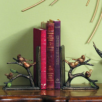 Sparrows on a Branch Pair of Bookends