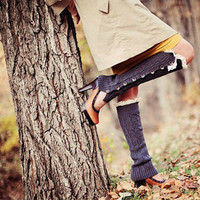 Pre-Order The Harper - Slouch Full Button Down Leg Warmers Boot Socks Lace Details Fall Winter Wear Christmas Gift Perfect For Her Under 30