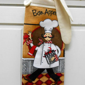 Kitchen Hand Towel, Chef Dish Towel, Hanging Hand Towel, Hand Towel, Dish Towel, Tea Towel, Tie On Towel, Kitchen Decor, Towel With Ties