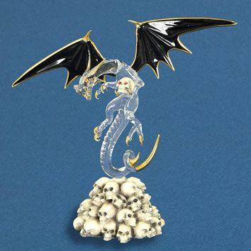 Glass Baron Dragon Skull Crusher Figurine
