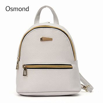 Osmond Backpacks Womens Leather Backpack Children Backpacks Mini Women Back Pack Backpacks for Teenage Girls Rucksack Mochilas