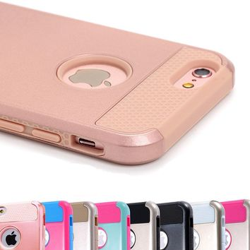 For Apple iPhone X 8 7 6s Plus Cover Case Shockproof Hybrid Rugged Rubber Hard