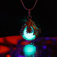 3 pendants in one - Locket  GLOW in the DARK