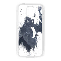Wolf Song 3 White Silicon Rubber Case for Galaxy S5 by Balazs Solti