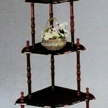 5 tier corner plant stand curio stand cherry or oak finish wood