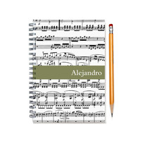 2015-2016 Monthly Planner, Personalized Music Calendar Notebook, Musician Gift, Custom Music Notebook, Music Teacher Gift, SKU: pn music