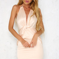 Down And Out Dress Nude