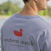 Southern Marsh: Authentic Tee, Light Blue