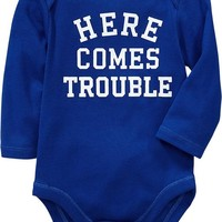 Long-Sleeved Graphic Bodysuits for Baby