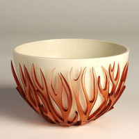 Red Vein Bowl by JennySmallCeramics on Etsy