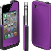 COCO FUN Waterproof Protection Case Cover For Apple iPhone 5 - (Multi Color) - Purple:Amazon:Cell Phones & Accessories
