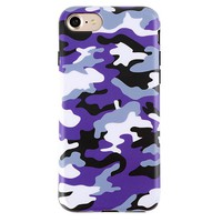 Purple Camo iPhone Case