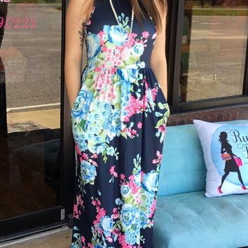 Fancy Floral Maxi Dress
