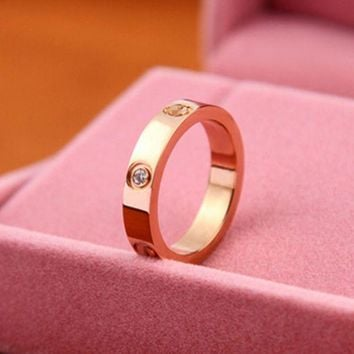 DCCKUNT Valentine's Day Gift Unisex Lovers' Gift Stainless Steel Rings + Nice Gift  Box