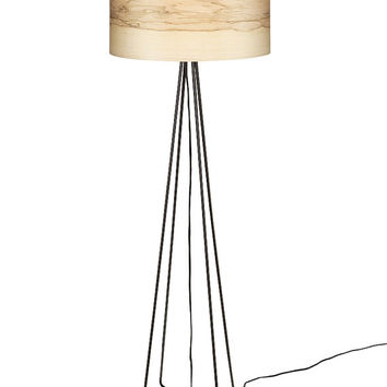 "FLAME ""1"" Floor Lamp Natural Ash Wood Veneer"