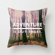 Adventure Is Out There Throw Pillow by Olivia Joy StClaire
