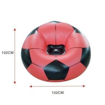 PVC Inflatable Sofa Football Shape swimming ring water toy