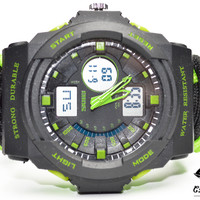 Green Men's Paracord Dive Watch