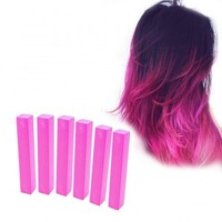 HOT PINK HAIR DYE - 6 Barbie Pink Hair CHalks | HairChalk