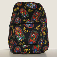 Legend of Zelda - Stained Glass Windwaker School Backpack
